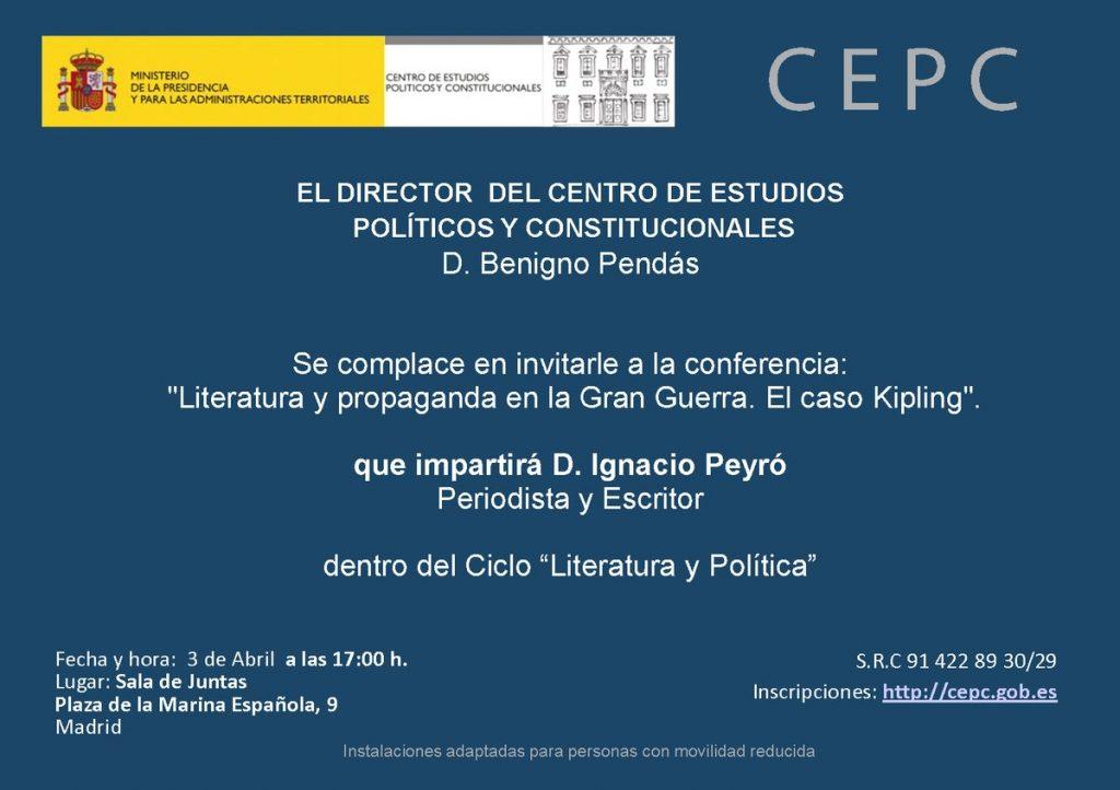 Invitación Conferencia CEPC - Ignacio Peyró