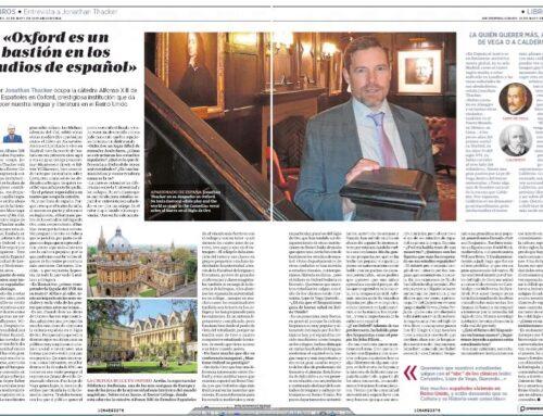 ABC Cultural: Entrevista a J. Thacker, catedrático Alfonso XIII en Oxford