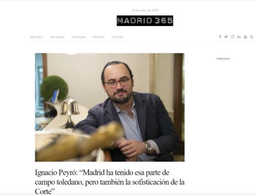 Cuestionario Proust sobre Madrid, en madrid365.es