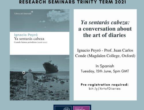 En el seminario de investigación de la facultad de lenguas de Oxford